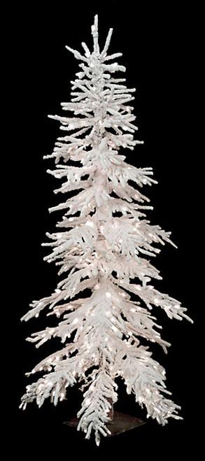 7.5 Foot Heavy Flocked Pistol Pine Tree