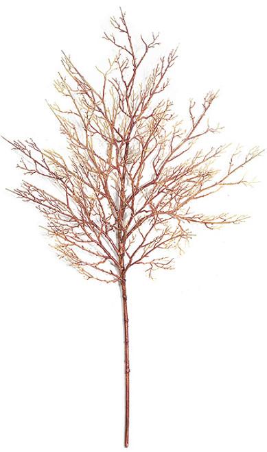 """34"""" Coral Twig Spray Orange/Red"""