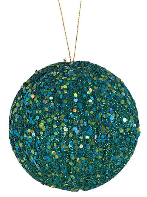 """J-120750 4"""" Glitter Ball Aqua"""