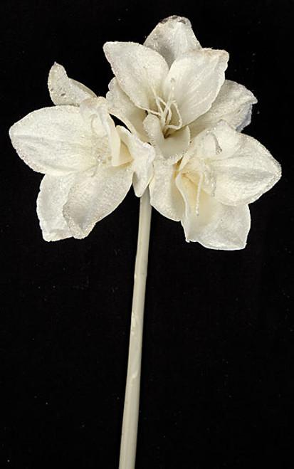 """P-13141028"""" Pearl White Amaryllis Stem"""