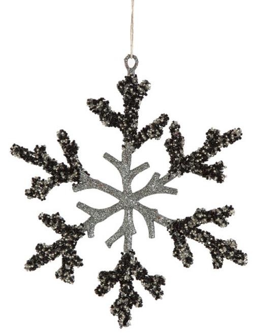 """J-1502108"""" Glittered Snowflake"""