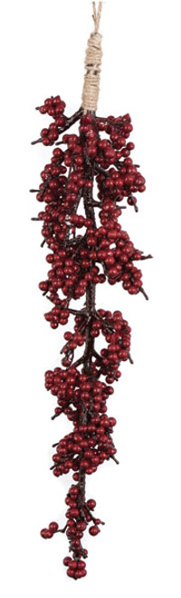 """J-15012024"""" Hanging Red Berry Ornament"""