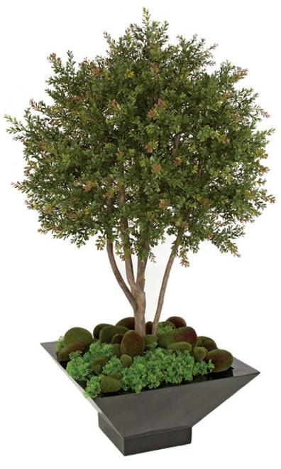 AUV-1463004' Plastic Wintergreen ShrubDecorative Pot Sold Separately