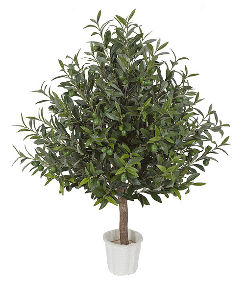 W-2925 3' Olive Tree Topiary With or Without Olives
