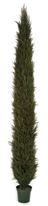 AUV-150012 12' Plastic Cypress Tree Limited UV Protection