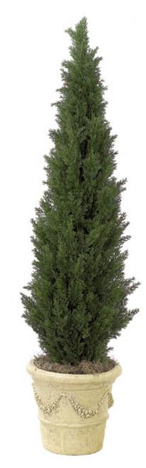 Plastic Mini Cedar Tree Decorative Pot Sold Separately