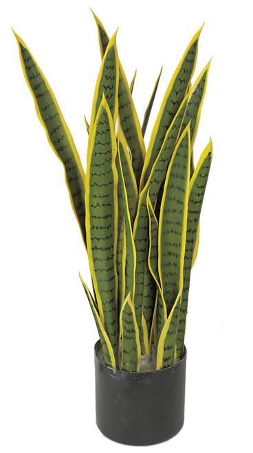 "AR-162180 - Fire Retardant28"" Sansevieria PlantGreen/Yellow"