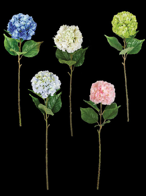 Hydrangea Stems - Tutone Blue,  Lt. Blue/Lavender,  Green, Cream, Pink