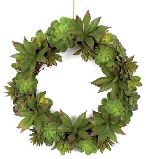 "A-14054016"" Succulent Twig Wreath"