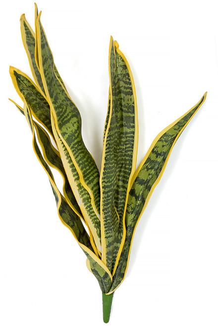 "PF-111003/S 27.5"" Foam Sansevieria Plant  Green/Yellow"