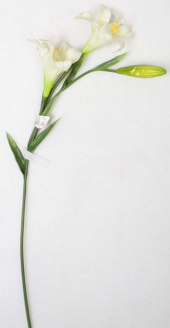 "A-80110/S 31"" Easter Lily Spray White"