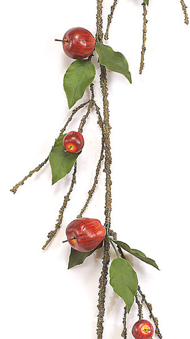 A-73705' Apple Garland w/ LeavesRed apples/green leaves