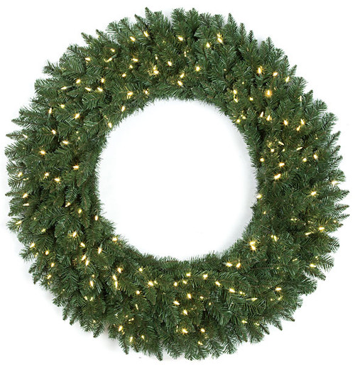 "C-13047448"" Monroe Pine Wreathwith LED Lights"