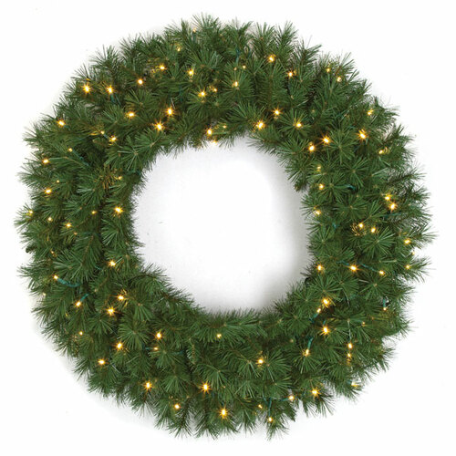 "C-15090848"" Westford Pine Wreathwith Lights"