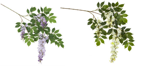 Lavender or Cream White Wisteria Branch