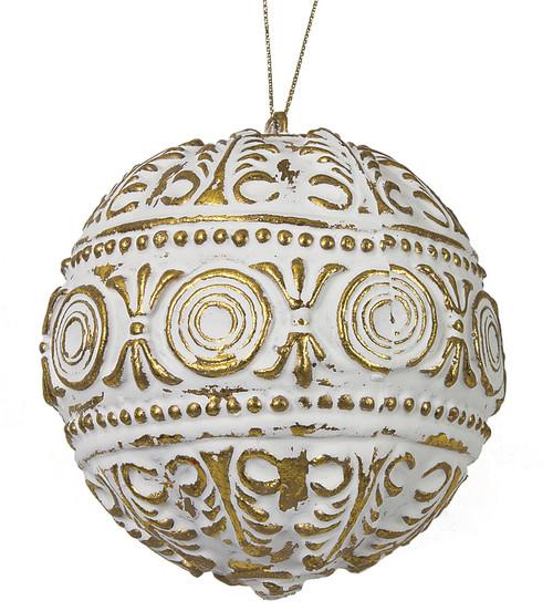 "J-1722304"" Antique BallWhite/Gold"