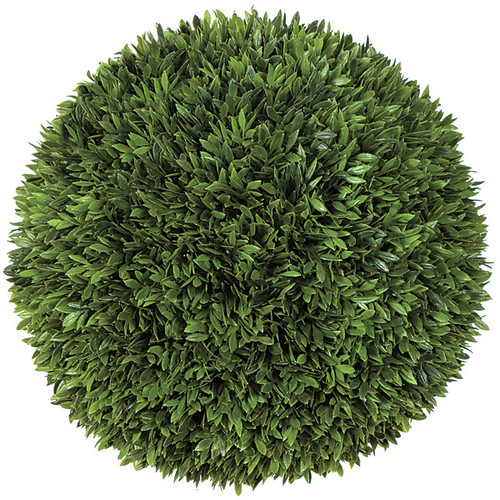 "A-80910 12"" Podocarpus Ball Green"