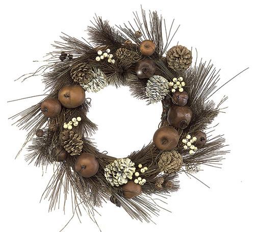 "P-155021"" Mixed Winter Pine Wreath"