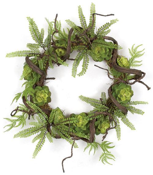 "A-14012024"" Succulent Twig Wreath"