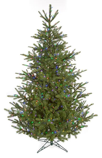 C-1208997.5' Elizabeth Pine Treewith Multi-Colored LED Lights