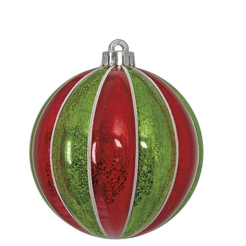 J-170295Mercury Glass BallRed/Green