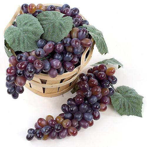 "A-8302Plastic Grape Cluster90 Grapes11"" Length11"" WidthMulti-Purple"
