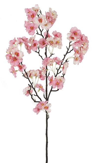 "P-160093 - Pink Rose/Cream 35"" Cherry Blossom Branch"