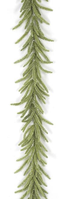 A-1702556' Glitter Tudor Pine GarlandGreen