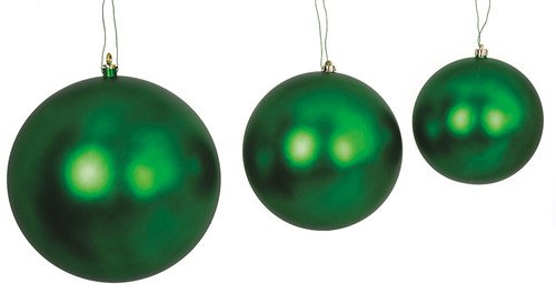 Matte Green Ball Ornaments