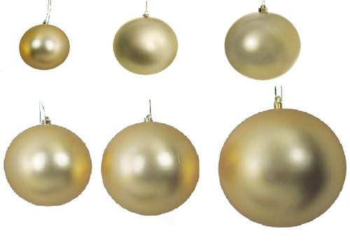 Gold Matte Ball Ornaments