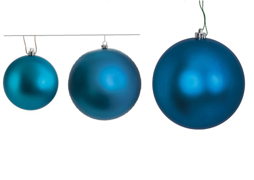 "4"", 6"", or 8"" Matte Blue Ball Ornaments"