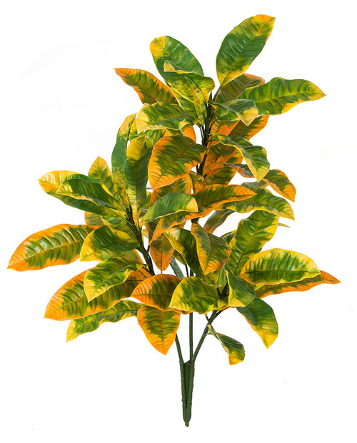 "35"" Poly UV Croton Bush Green/Yellow"