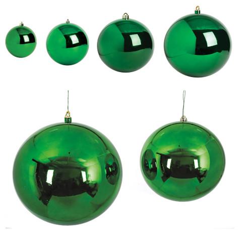 Reflective Green Ball Ornaments
