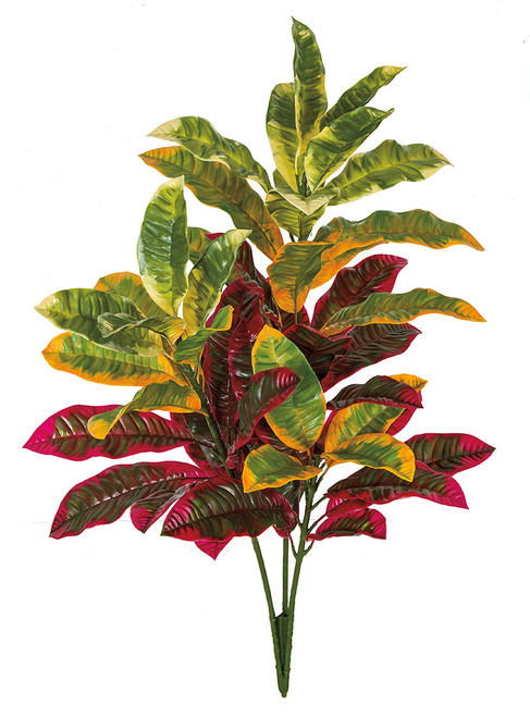 "A-184025 34"" Outdoor Croton Bush Mixed Red/Green and Green/Yellow"