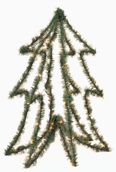 C-434 4' PVC Prelit Tree Form
