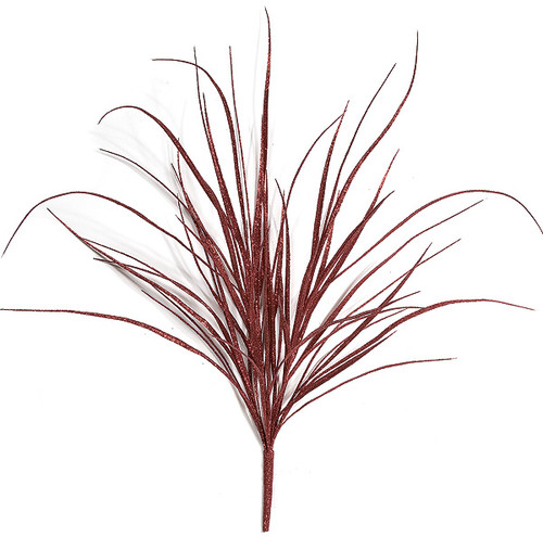"A-72252 36"" Red Glitter Grass Bush"