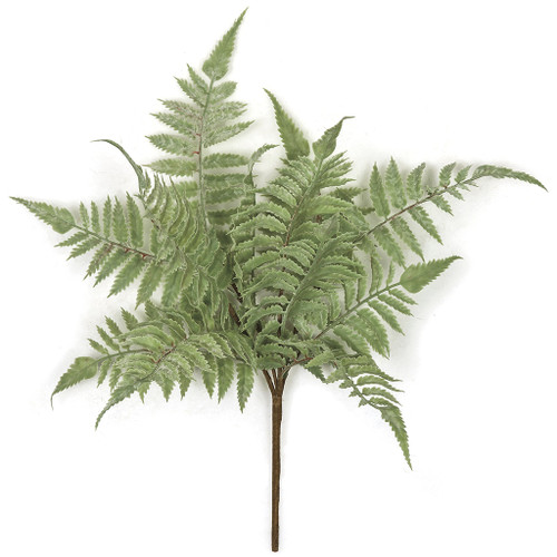 "16"" Artificial Fern Bush with 12 leaves"