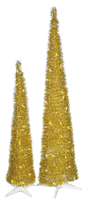 5' And 7' Tinsel Pop Up Trees