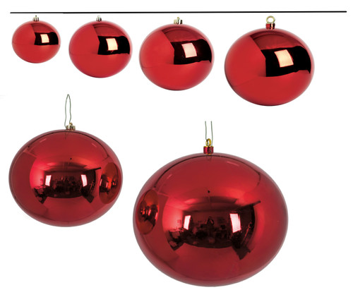 Reflective Red Ornaments