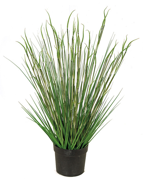 "A-184830 41"" Potted PVC Onion Grass & Equisetum"