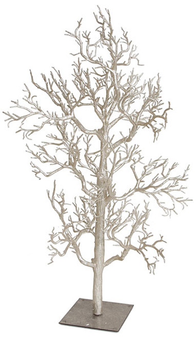 "A-110600 - Rose Gold/Champagne  42"" Glittered Twig Tree"
