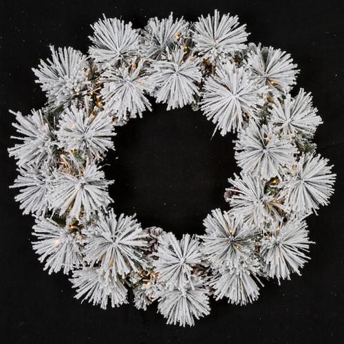 "36"" Flocked Bavarian Wreath"