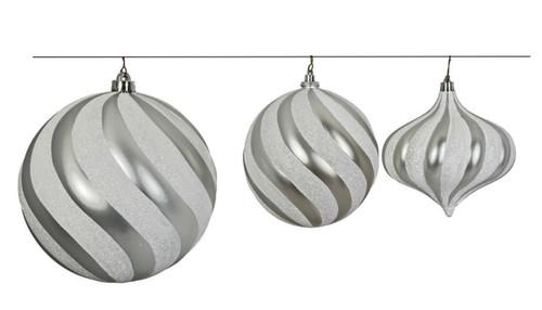 "Matching Set of Ornaments  J-180310 - 8"" Ball Ornament J-180330 - 5.5"" Onion Ornament"