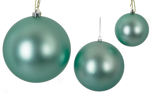 "4"" - 6"" - 8"" Matte Ball Ornaments"