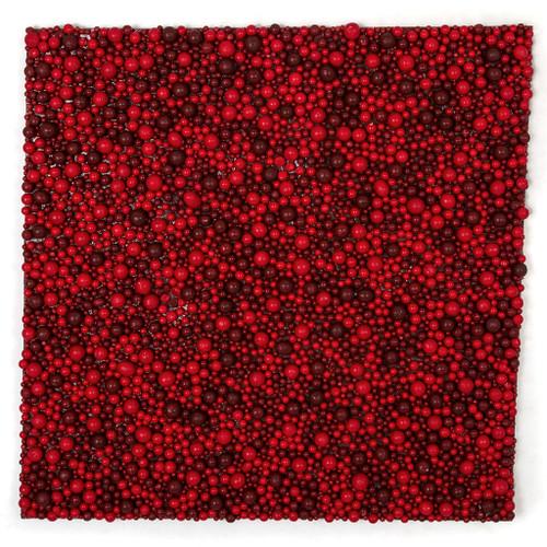 "19"" x 19"" Multi-Red Berry Mat"