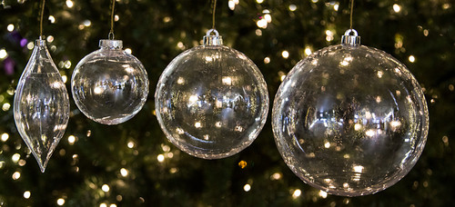 Group of Transparent Ornaments