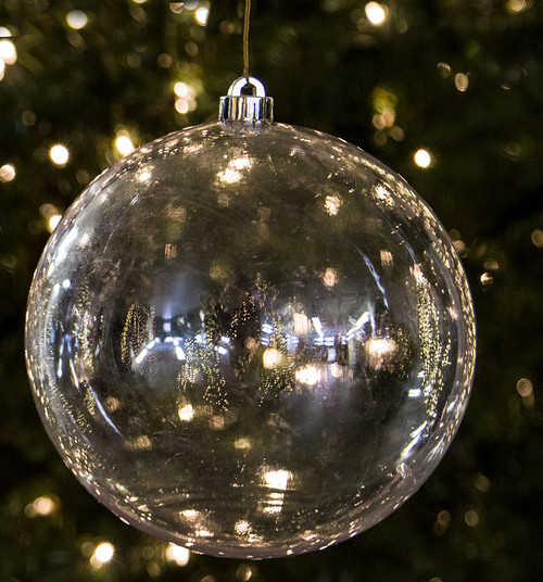"J-180830 - 8"" Clear Ball Ornament"