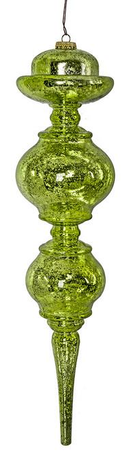 "J-180111 19"" Lime Green Mercury Finial"