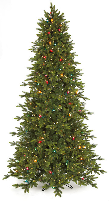 9' PE/PVC Pippa Pine Tree  with Multi-Colored Lights