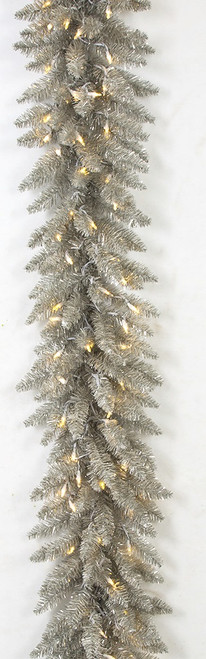 9' Vintage Champagne Garland with Twinkling LED Lights